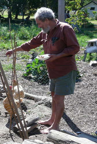 David at groundswell cohousing in BC Canada